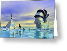 Lost And Found - Surrealism Greeting Card by Sipo Liimatainen