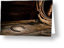 Lost  Horseshoe Greeting Card by Olivier Le Queinec