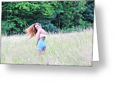 Lost In A Feild Greeting Card by Amanda Just