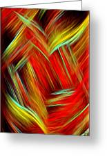 Lost In Thoughts - Abstract Digital Painting By Giada Rossi Greeting Card by Giada Rossi