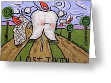 Lost Tooth Greeting Card by Anthony Falbo