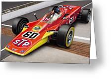 Lotus Stp Indy Turbine Greeting Card by David Kyte