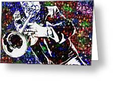 Louie Armstrong Greeting Card by Jack Zulli