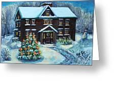 Louisa May Alcott's Christmas Greeting Card by Rita Brown