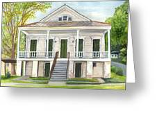 Louisiana Historic District Home Greeting Card by Elaine Hodges