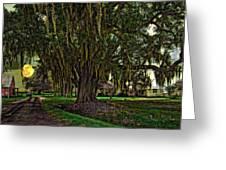 Louisiana Moon Rising Greeting Card by Steve Harrington
