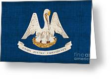 Louisiana State Flag Greeting Card by Pixel Chimp