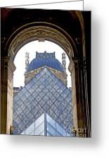 Louvre Palace Museum.paris. France Greeting Card by Bernard Jaubert