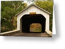 Loux Bridge And Sharp Left - Bucks County  Greeting Card by Anna Lisa Yoder