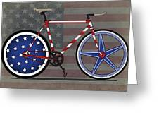 Love America Bike Greeting Card by Andy Scullion