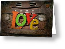 Love And A Ford Truck Greeting Card by Carla Parris