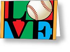 Love Baseball Greeting Card by Gary Grayson