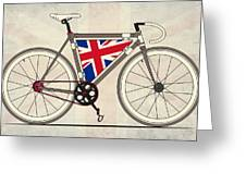 Love Bike Love Britain Greeting Card by Andy Scullion