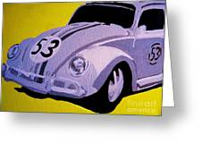 Love Bug Greeting Card by Nick Mantlo-Coots