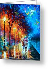 Love By The Lake Greeting Card by Leonid Afremov