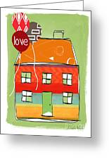 Love Card Greeting Card by Linda Woods