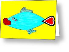 Love-fish Greeting Card by Rodemondo Rocca