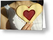 Love Heart Valentine Greeting Card by Matthias Hauser