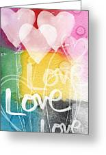Love Hearts Greeting Card by Linda Woods