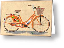 Love Holland Love Bike Greeting Card by Andy Scullion