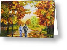 Love In Autumn Greeting Card by Veikko Suikkanen