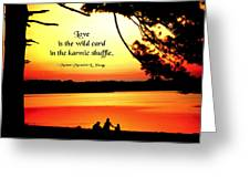 Love Is The Wild Card Greeting Card by Mike Flynn