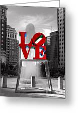 Love Isn't Always Black And White Greeting Card by Paul Ward