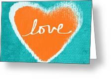 Love Greeting Card by Linda Woods