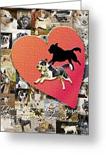 Love Of Dogs--general Version Greeting Card by Judy Wood