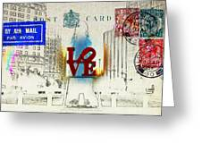 Love Park Post Card Greeting Card by Bill Cannon