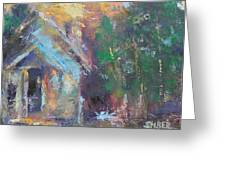 Love Shack Greeting Card by Kathy Stiber