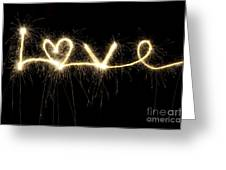 Love Shines Brightly Greeting Card by Tim Gainey