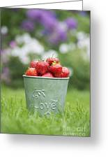 Love Strawberries Greeting Card by Tim Gainey