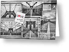 Love The Brooklyn Bridge Greeting Card by John Farnan