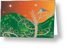 Lovebirds Greeting Card by Kim Prowse