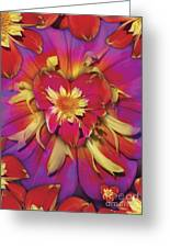 Loveflower Orangered Greeting Card by Alixandra Mullins