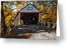 Lovejoy Covered Bridge Greeting Card by Bob Orsillo