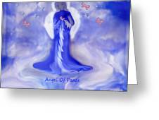 Loving Angel Of Peace Greeting Card by Sherri  Of Palm Springs