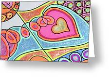 Loving Heart Connection Greeting Card by Sheree Kennedy