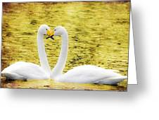 Loving Swans Greeting Card by Toppart Sweden
