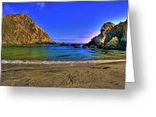 Low Tide At Big Sur Greeting Card by John Absher