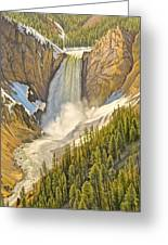 Lower Falls-may   Greeting Card by Paul Krapf