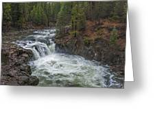 Lower Falls Whirlpool Greeting Card by Loree Johnson