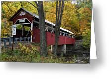 Lower Humbert Covered Bridge Greeting Card by Dan Myers