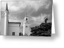 Loyola Marymount University Clock Tower Greeting Card by University Icons