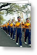 Lsu Marching Band 3 Greeting Card by Steve Harrington