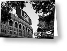Lsu Through The Oaks Greeting Card by Scott Pellegrin