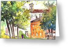 Lucca In Italy 02 Greeting Card by Miki De Goodaboom