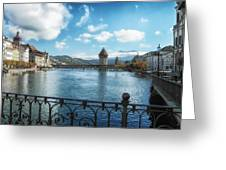 Lucerne In Autumn Greeting Card by Mountain Dreams