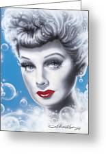 Lucille Ball Greeting Card by Alicia Hayes